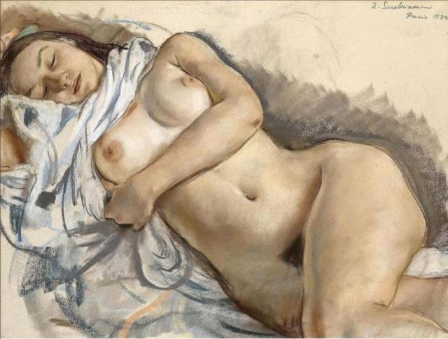 Nudo dormiente, dell'artista russa Zinaida Serebrjakova