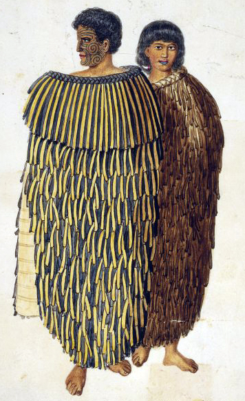 Maori - Hone Heke  e sua moglie in un'illustrazione del 1845