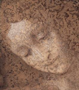 Detail of the face of John, The Last supper, Leonardo da Vinci