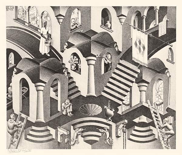 Escher-Convex-and-Concave-1955