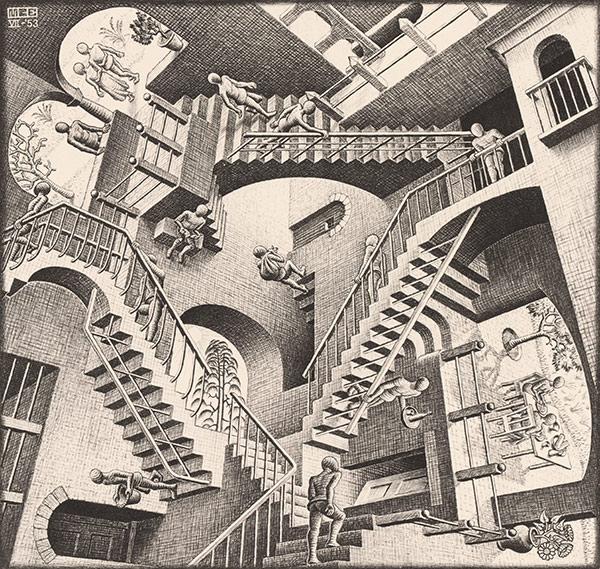 Escher, Relativity (1953)