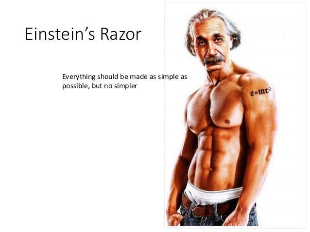 Einstein's Razor