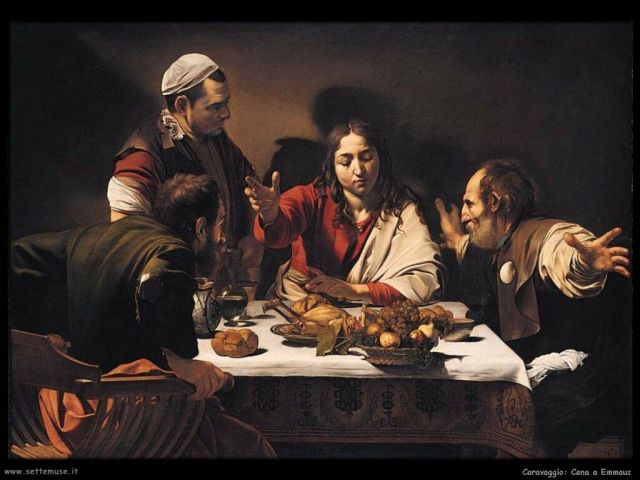 Caravaggio, Cena a Emmaus, National Gallery London