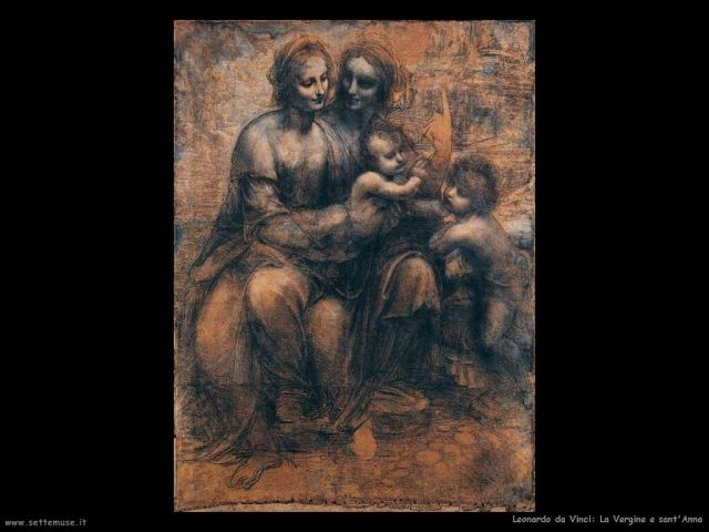 Leonardo da Vinci, Vergine e Sant'Anna, National Gallery, London