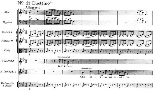 Mozart, canzonetta 'Sull'aria'- 'Che soave zeffiretto'