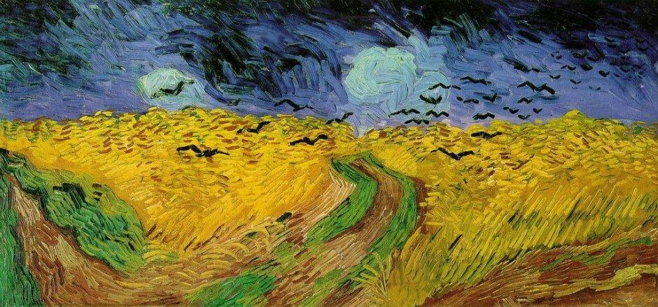 Vincent Van Gogh (1853-1890), Campo di grano con volo di corvi (1890)