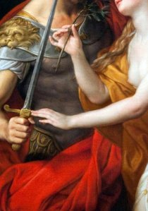 Pompeo Girolamo Batoni, Peace and War, detail
