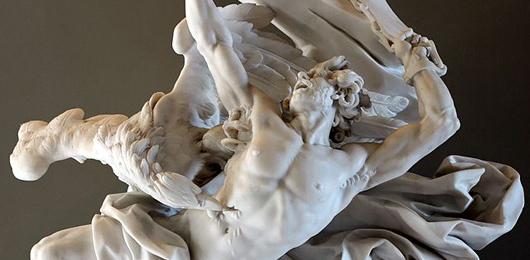 Prometeo incatenato, marmo bianco di Nicolas-Sébastien Adam, Parigi, Louvre